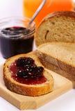 помеец сока варенья вишни хлеба Стоковая Фотография RF