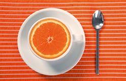 помеец чашки кофеина завтрака здоровый Стоковые Фотографии RF