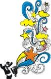 померанцовая звезда Стоковое фото RF