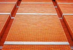 Померанцовая кирпичная стена Стоковые Фотографии RF