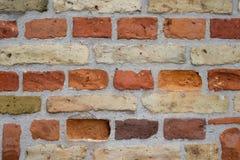 Померанцовая кирпичная стена Стоковое Изображение