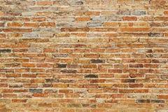 Померанцовая кирпичная стена Стоковые Изображения RF