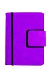 Померанцовая кожаная крышка устроителя при тесемка, изолированная на белом ба Стоковое Изображение RF