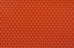 Померанцовая кожаная предпосылка текстуры Стоковая Фотография RF