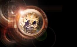 померанцовая планета Стоковое Изображение