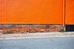 Померанцовая стена стоковая фотография rf