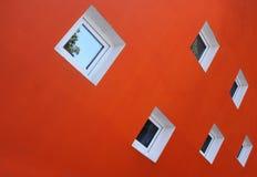 померанцовая стена Стоковая Фотография