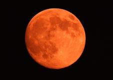 Померанцовая луна Стоковое Изображение