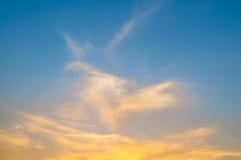 Померанцовое небо захода солнца Стоковые Изображения