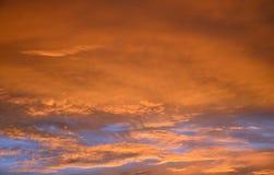 Померанцовое небо Стоковое Изображение