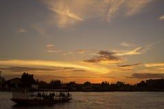померанцовое небо Стоковое Фото