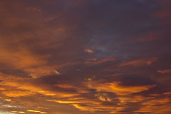померанцовое небо Стоковое фото RF