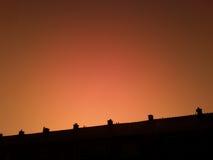 померанцовое небо Стоковые Изображения RF
