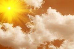 Померанцовое небо Стоковая Фотография RF