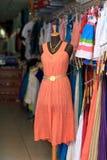 Померанцовое платье Стоковые Фото