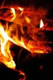 Померанцовое пламя Стоковая Фотография