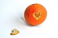 Померанцовое сердце Стоковая Фотография
