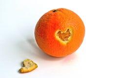 Померанцовое сердце Стоковые Изображения
