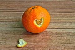 Померанцовое сердце Стоковые Фотографии RF