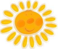 померанцовое солнце Стоковые Фотографии RF