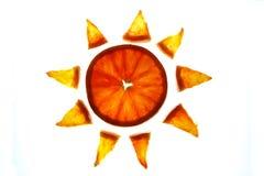 померанцовое солнце Стоковое Изображение RF