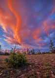 Померанцовые облака Стоковая Фотография RF
