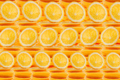 померанцовые ломтики Повторять оранжевую картину Картина Макрос Стоковые Изображения