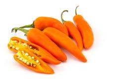 Померанцовые перцы Chili Стоковое Фото