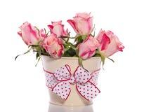 померанцовые розовые розы Стоковые Фото