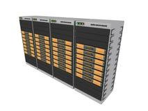 померанцовые серверы 3d 4 Стоковое Фото