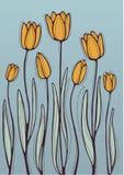 Померанцовые тюльпаны иллюстрация штока