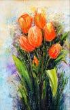 померанцовые тюльпаны Стоковые Изображения RF