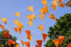 Померанцовые флаги Стоковые Фотографии RF