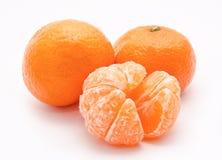 Померанцовые tangerines на белизне Стоковое Фото