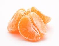 Померанцовые tangerines на белизне Стоковое Изображение