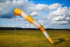 померанцовый белый windsock Стоковое Изображение RF