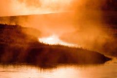 померанцовый восход солнца Стоковое Изображение
