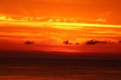 померанцовый восход солнца Стоковые Изображения