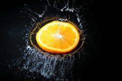 померанцовый выплеск Стоковое Изображение RF