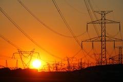 померанцовый заход солнца возвышается передача стоковая фотография rf