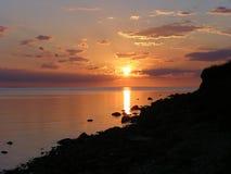 померанцовый заход солнца Стоковое Изображение RF