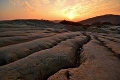 померанцовый заход солнца Стоковая Фотография