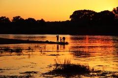 померанцовый заход солнца Стоковые Изображения RF