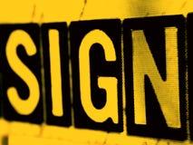 померанцовый знак Стоковое Изображение RF