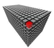 Померанцовый кубик Стоковое Изображение RF
