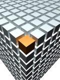 Померанцовый кубик иллюстрация штока