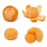 Померанцовый плодоовощ мандарина или tangerine на белой предпосылке Стоковая Фотография RF