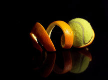 померанцовый теннис Стоковые Фотографии RF