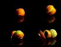 померанцовый теннис Стоковая Фотография