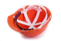 Померанцовый трудный шлем Стоковая Фотография